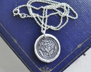 anchor and winged heart wax seal pendant
