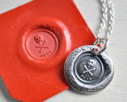 skull wax seal necklace