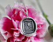 flower wax seal necklace