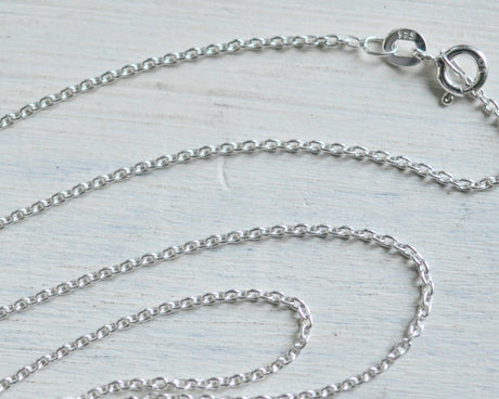 "necklace chain - sterling silver cable chain - 16"", 18"", 20"" or 24"""