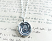 YOUR'S &c wax seal pendant
