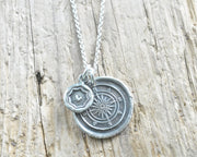 follow your heart wax seal necklace