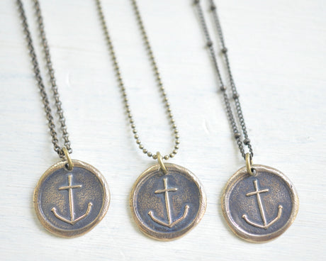 antiqued brass necklace chain