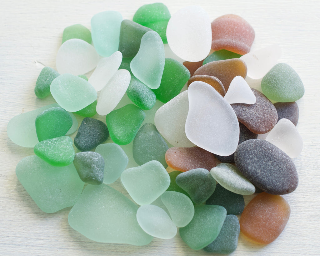 sea glass - small loose sea glass grab bag for jewelry
