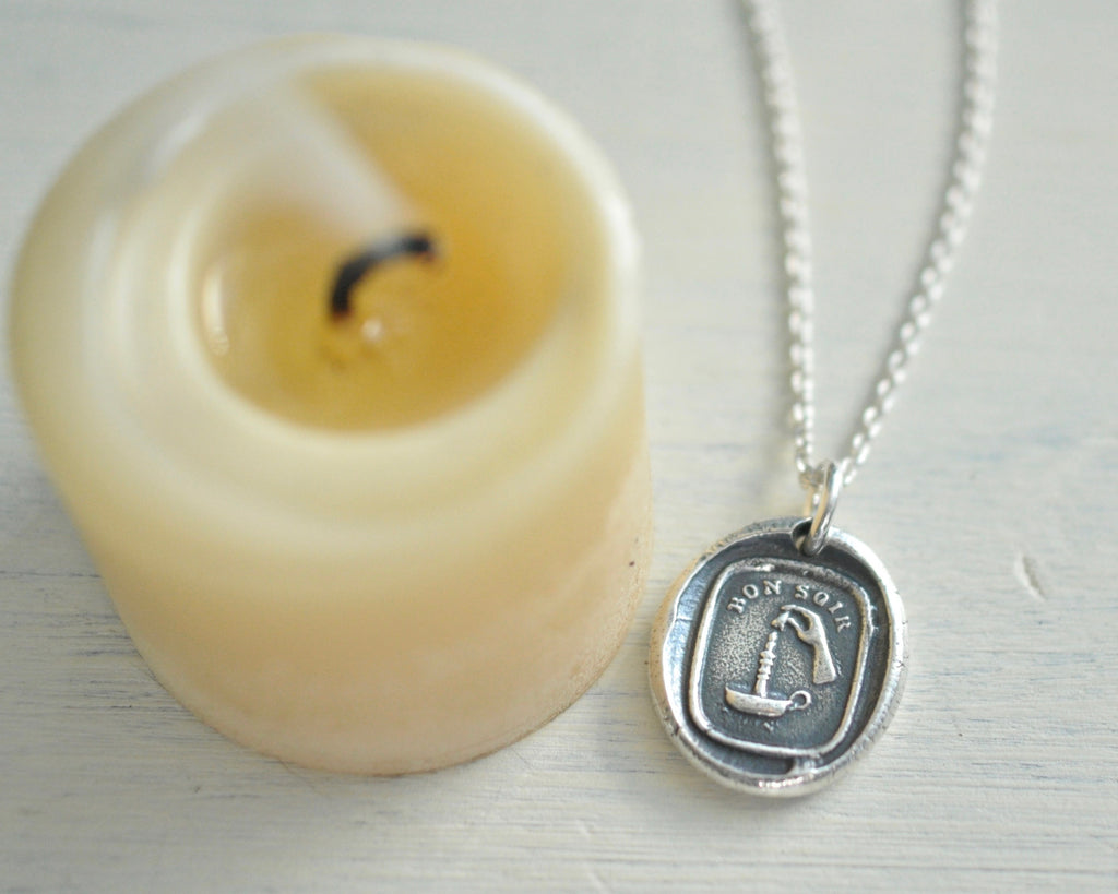 candle wax seal necklace