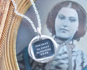 mourning necklace
