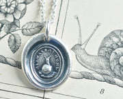 snail wax seal necklace