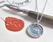 letter wax seal necklace
