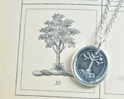 tree of life wax seal necklace