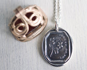 forget me not wax seal jewelry