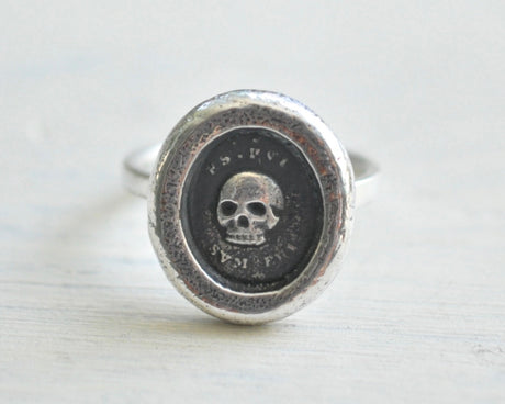 skull wax seal ring