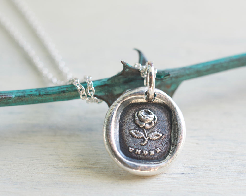under the rose wax seal necklace