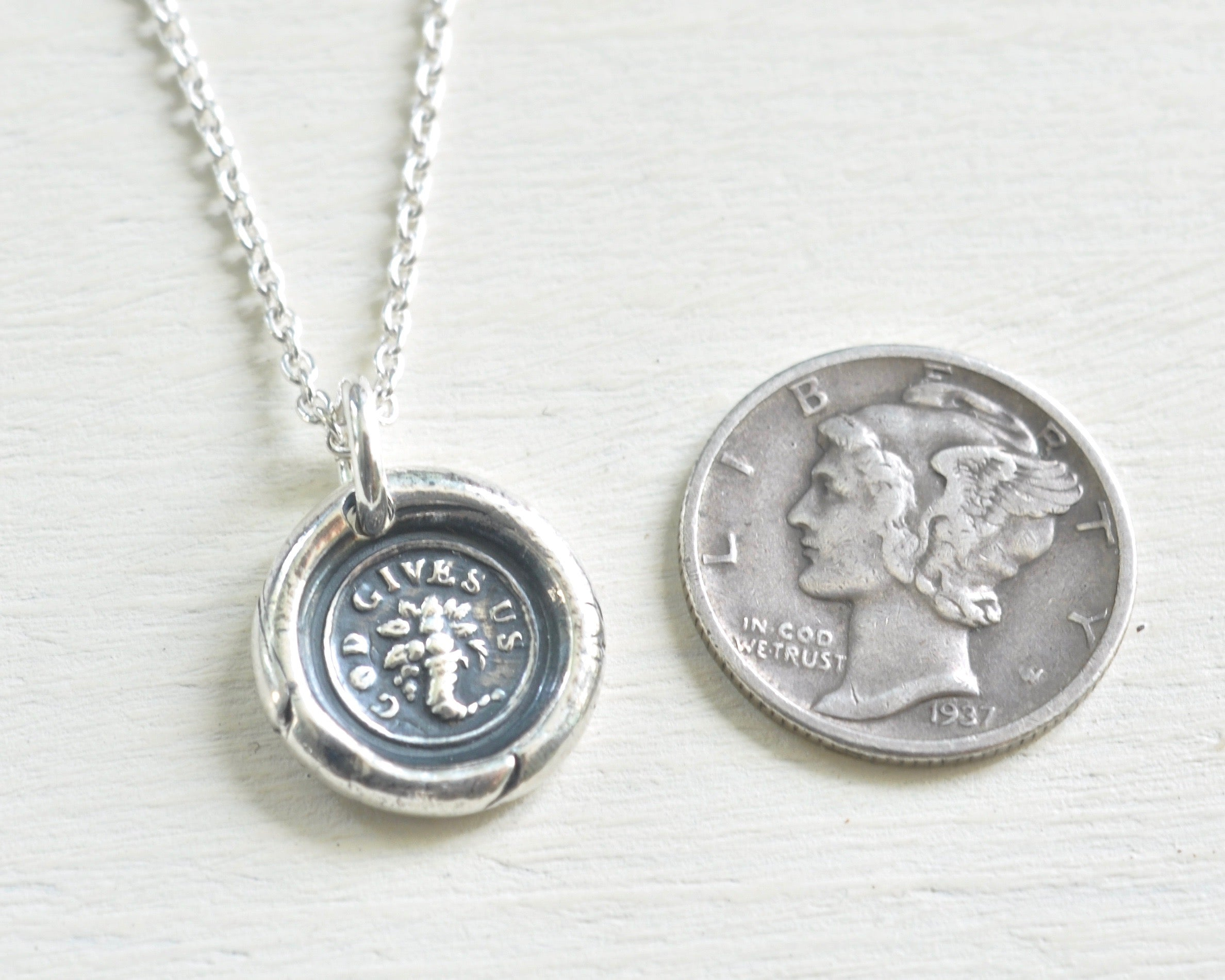 Cornucopia wax seal necklace god gives us horn of plenty cornucopia wax seal necklace god gives us horn of plenty mozeypictures Images