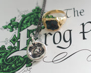 frog princess wax seal necklace