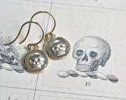 14k gold skull earrings
