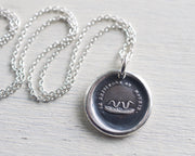 will join or die wax seal necklace