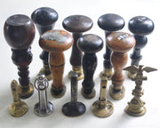 antique wax seal stamp collection