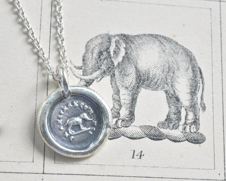 elephant wax seal necklace - believe in yourself - wax seal jewelry