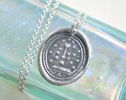 stars wax seal necklace