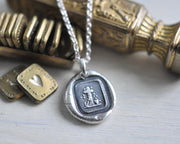 cross wax seal jewelry