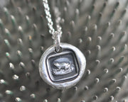 frog wax seal necklace