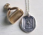 father time wax seal necklace