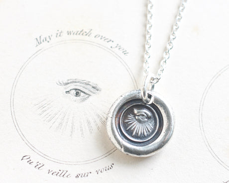 eye wax seal necklace