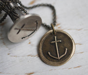 anchor wax seal jewelry