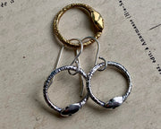 ouroboros snake earrings