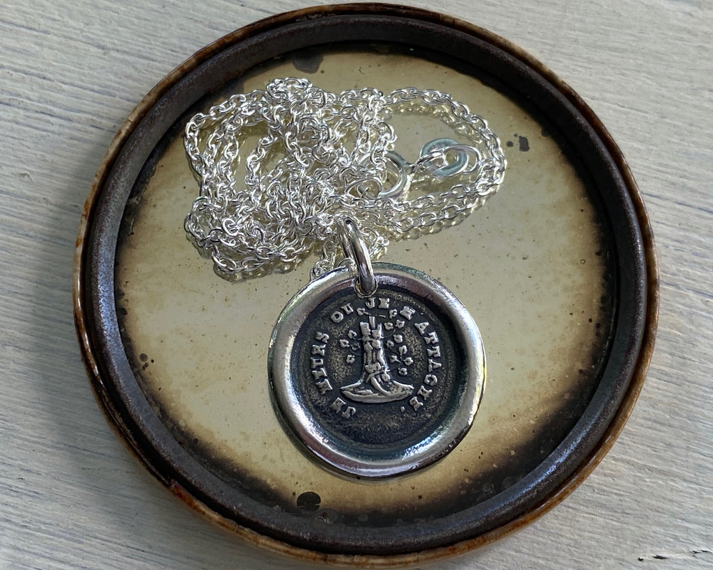 oak and ivy wax seal necklace