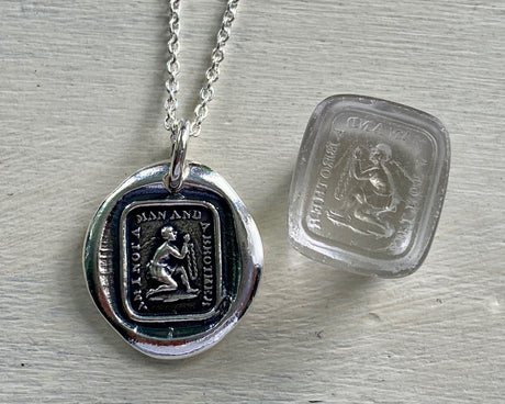 am I not a man and a brother wax seal necklace