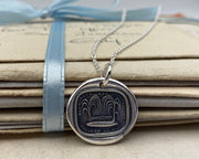 weeping willow wax seal necklace