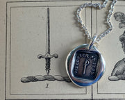 sword wax seal necklace