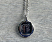 shakespeare wax seal necklace