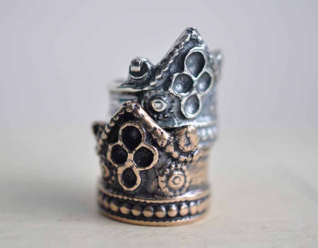 rustic crown ring