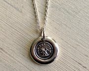 old yet firm wax seal necklace