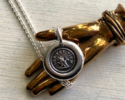tree trunk wax seal necklace