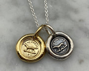faithful dog wax seal jewelry
