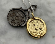 gold memento mori wax seal jewelry