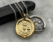memento mori wax seal jewelry