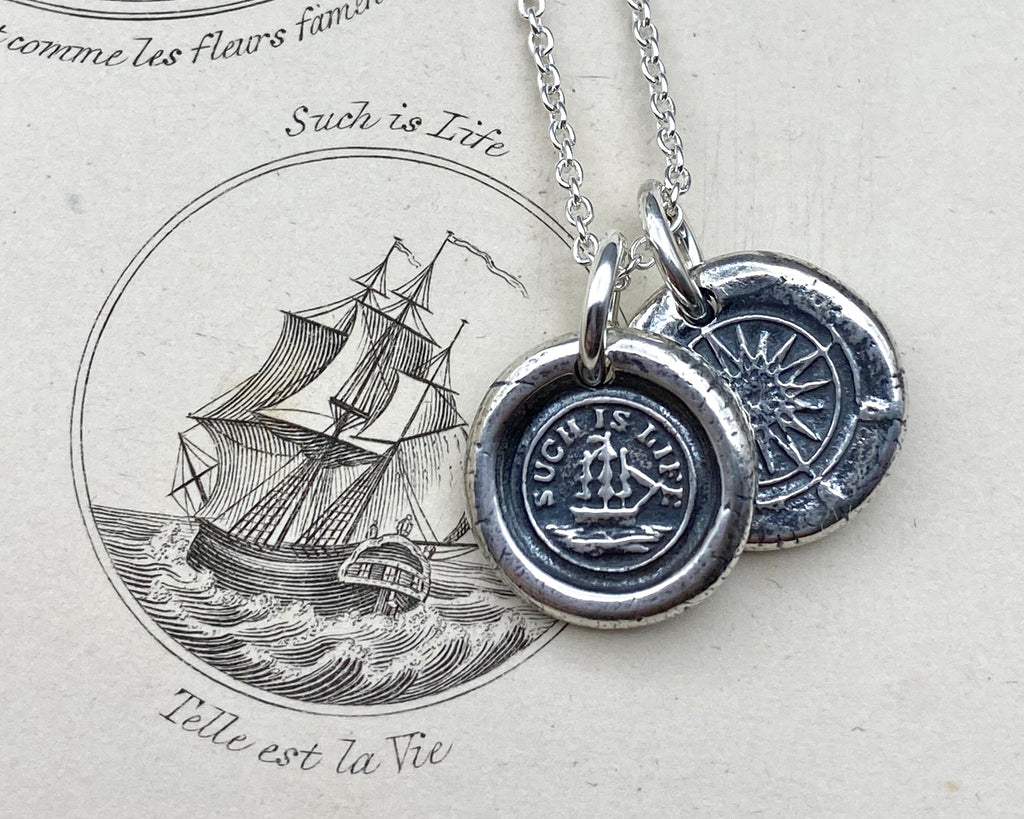 such is life wax seal necklace