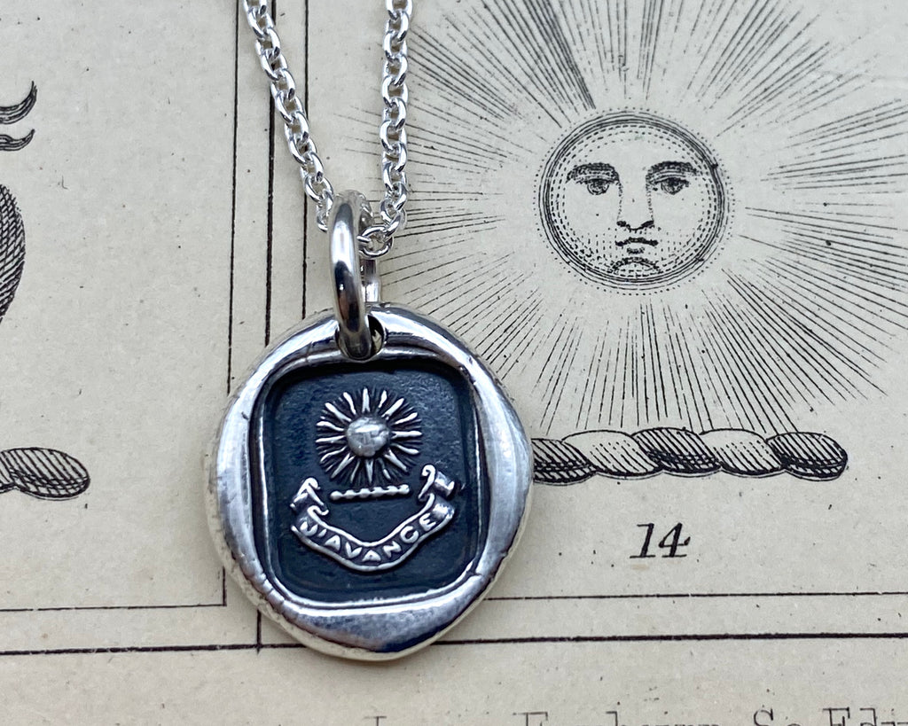 sun wax seal necklace
