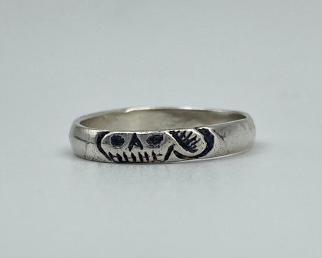 sterling silver mourning ring