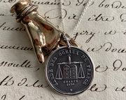 scales of justice wax seal pendant