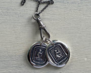 abolitionist wax seal necklace