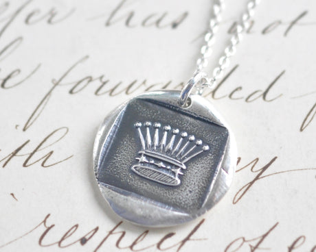 crown wax seal pendant