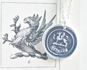 griffin wax seal necklace - FORWARD - wax seal jewelry