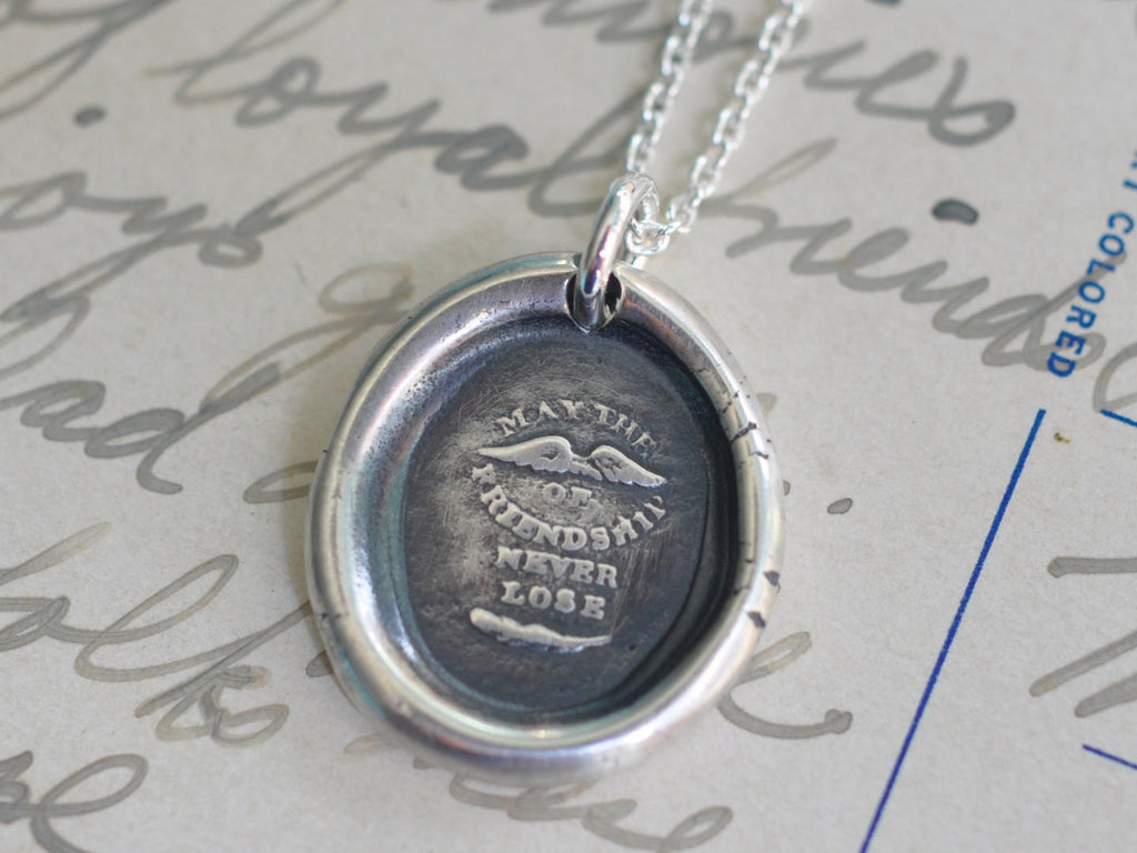 friendship wax seal necklace