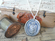 lion crest wax seal pendant