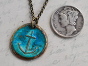 anchor wax seal charm